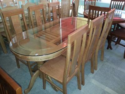 Bộ bàn ăn gỗ sồi EPA 133