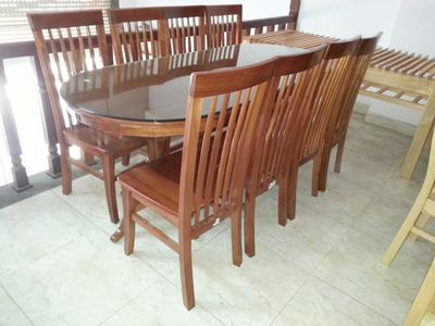 Bộ bàn ăn 8 ghế xoan đào EPA 143