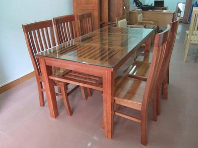 Bộ bàn ăn gỗ sồi Nga EPA 154
