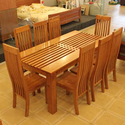 Bộ bàn ăn 8 ghế gỗ sồi GBA029