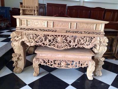 Bộ bàn thờ gỗ gụ