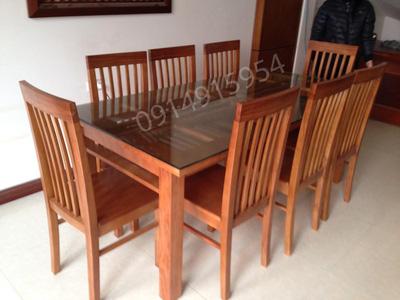Bộ bàn ăn xoan đào 8 ghế GBA046