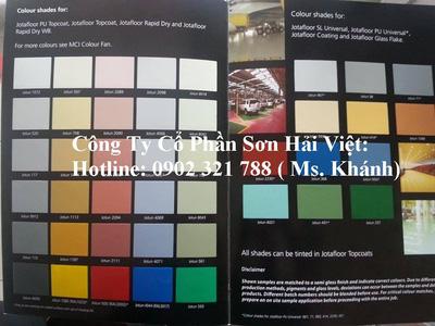 Bảng màu sơn epoxy jotun, sơn sàn, sơn công nghiệp hàng hải