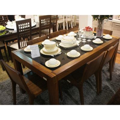 MSP : QH01 Bộ bàn ăn gỗ tự nhiên sồi nga