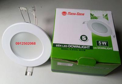 Đèn LED Downlight Rạng Đông 90/5W   Vàng, Trắng