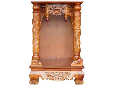Bàn thờ ông địa gỗ hương 1 tầng