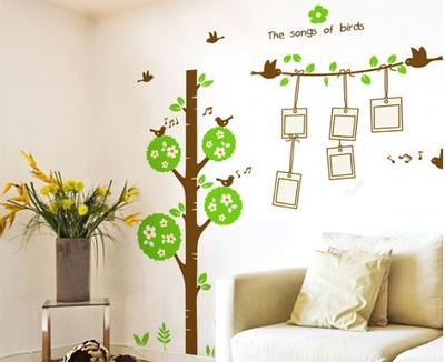 Decal dán tường cây xanh, hoa lá trang trí nhà độc đáo