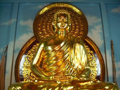 Tượng gỗ Phật Thich Ca Mau Ni Thếp vàng