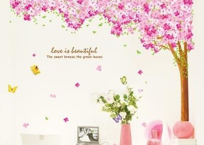 Decal trang trí nhà cây   hoa độc đáo