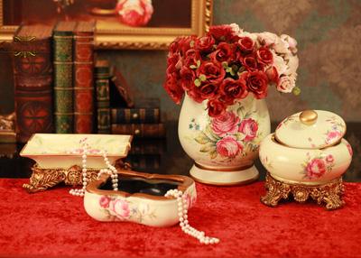 Bình hoa giả cổ vintage phong cách châu Âu lãng mạn