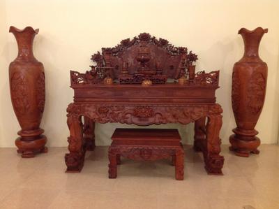 Sạp thờ gỗ hương tứ linh