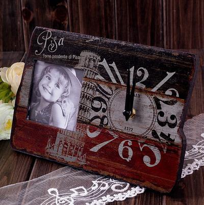 Khung ảnh đồng hồ vintage cổ điển 2 in 1