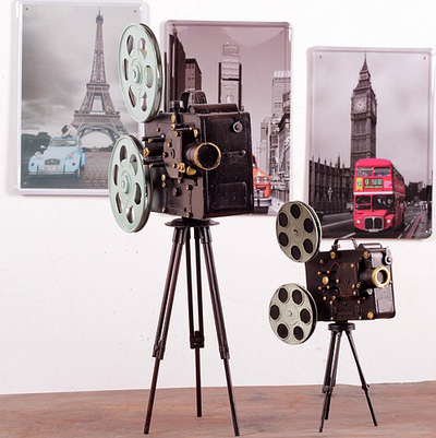 Máy chiếu film cổ mô hình trang trí Retro style