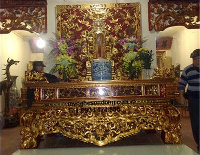 Sập thờ lớn gỗ mít