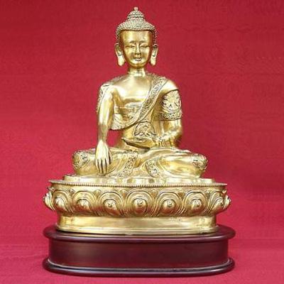 Tượng Phật Thích Ca Mâu ni bằng đồng vàng nguyên chất