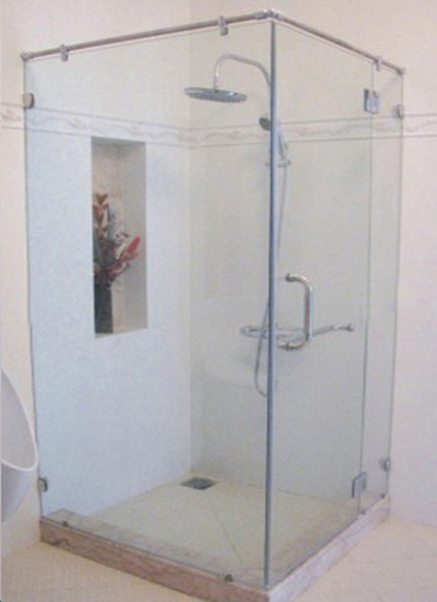 Phòng tắm kính góc Rivington Indigo