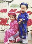 Áo dài trẻ em, áo dài thượng thọ hàng may sẵn chất lượng cao