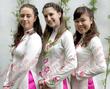 May áo dài đồng phục, áo dài lễ tân giá rẻ tại Hà Nội