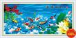 Tranh thêu chữ thập Cửu ngư quần hội DLHYA327