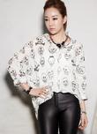 Bạn gái cá tính, sành điệu với Áo sơ mi nữ thời trang Hàn Quốc hiệu Flower