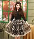 Chân váy ren xòe hot trend ảnh thật