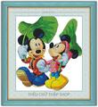 Tranh thêu chữ thập Mickey và Minney