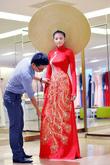 Áo dài nữ, áo dài cô dâu chú rể mẫu mới nhất 2014