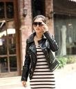 Sành điệu, phong cách, cá tính với Áo khoác dạ, áo da, áo choàng cách điệu style thu đông mới nhất