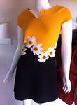 Váy thô chun in 3D nổi, dáng suông, mềm, mát không nhăn nhẹ nhàng ôm dáng. Size S,M,L