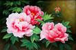 Tranh hoa mẫu đơn 1 tấm