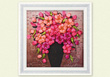 Tranh Thêu Ruy Băng Bình hoa đỏ / 01-228