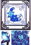 Tranh Thêu Ruy Băng Hoa Xanh / BZG 205