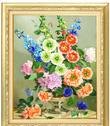 Tranh Thêu Ruy Băng Bình Hoa  / C 01240