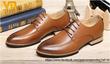 Giày công sở nam kiểu buộc dây phong cách Châu Âu