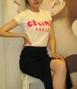 Set áo thun Céline Váy len dài