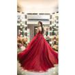 Thanh lý váy cưới: Xòe đỏ đô lộng lẫy siêu đẹp, mới toanh, giá tốt
