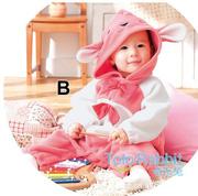 Ảnh số 32: BD505 Body bé gái thỏ hồng 2 nơ xinh xắn cho bé 8-10-12-13 cân (6tháng đến 2,5 tuổi)) - Giá: 230.000