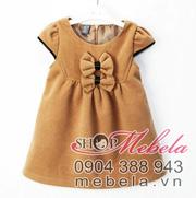 Ảnh số 47: V504 Váy dạ bé gái xuất khẩu thương hiệu Zara tay hến 2 nơ cực xinh 1-5 tuổi - Giá: 250.000