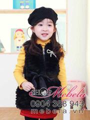 Ảnh số 49: AKG02 Áo khoác lông sang trọng dáng dài kèm đai cho bé gái 2-6 tuổi - Giá: 280.000