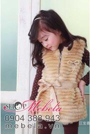 Ảnh số 50: AKG02 Áo khoác lông sang trọng kèm đai cho bé gái (sp bên ngoài là màu hồng nhạt) - Giá: 280.000
