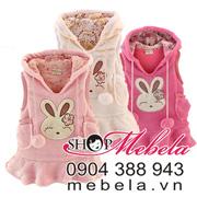 Ảnh số 59: V507 Áo váy lông dáng dài liền mũ hình thỏ dễ thương cho bé 9 tháng - 4 tuổi (có 2màu hồng phấn và hồng đậm) - Giá: 250.000