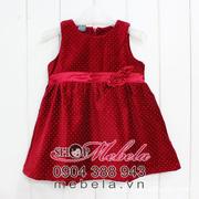 Ảnh số 63: V506 Váy nhung Zara chấm bi gắn hoa xinh xắn cho bé gái 9th - 5 tuổi - Giá: 250.000