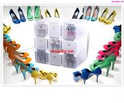 Ảnh số 4: Hộp đựng giày nữ có ngăn kéo viền inox - Giá: 55.000