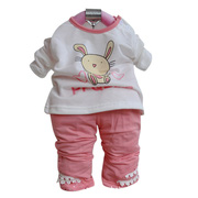 Ảnh số 2: BG502 Bộ nỉ bé gái gắn nơ và thỏ trắng xinh xắn gồm 3 sp áo khoác, áo nỉ , quần nỉ cho bé khaỏng 7 đến 12 cân - Giá: 320.000