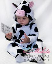 Ảnh số 67: BD510 Body nỉ hình bò sữa ngộ nghĩnh cho bé 7-13 cân - Giá: 230.000