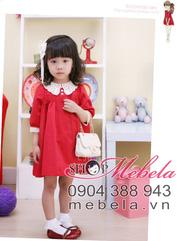 Ảnh số 4: V508 Váy tay lỡ cổ và tay pha ren xinh xắn phong cách Hàn Quốc cho bé 2 - 6 tuổi - Giá: 210.000