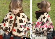 Ảnh số 13: AC01 Áo choàng dạ liền mũ ấm áp in hình gấu và sao cho bé 0 đến 3 tuổi (15 cân trở xuống) - Giá: 170.000