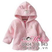 Ảnh số 71: AKG12 Áo khoác lông hồng 2 lớp lông mềm mại cho bé 3 - 18 tháng - Giá: 250.000