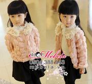 Ảnh số 40: AKG17 Áo khoác len bé gái hình nổi cổ bèo hoa xinh xắn cho bé 2-6 tuổi - Giá: 240.000