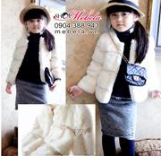 Ảnh số 38: KG24 Áo khoác lông viền ren sang trọng ấm áp cho bé gái 12-14-16-18-20 cân - Giá: 390.000